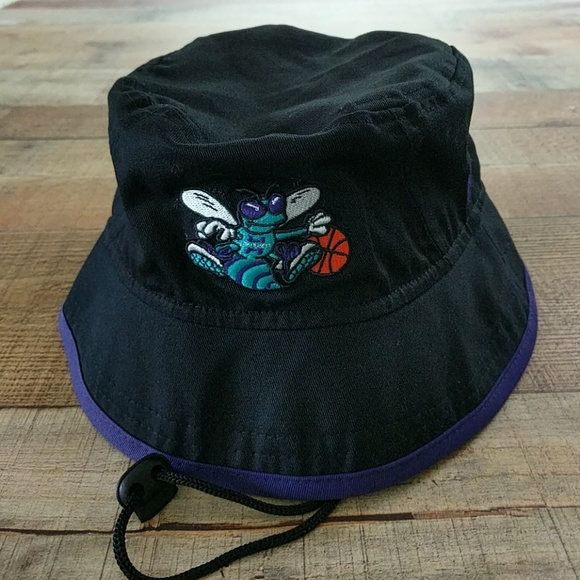 Charlotte Hornets Bucket Hat With Chin Strap 78378bf4723